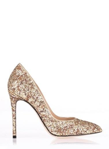 Pier Lucci Deri Topuklu Ayakkabı Altın